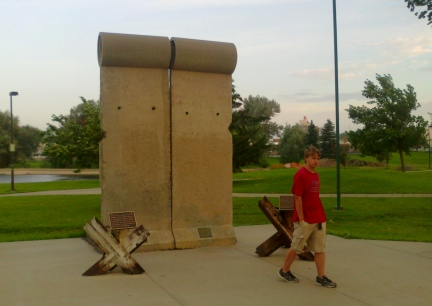 Blake at the Berlin Wall Piece in Rapid City SD 2014-06-30