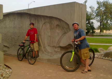 Blake Deron Trout  Art Rapid City Bike Trail 2014-06-30
