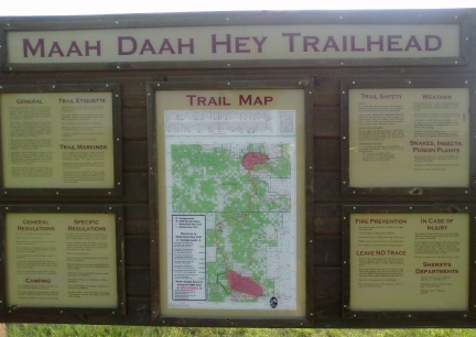 Maah Daah Hey Trail Sign 2014-07-02