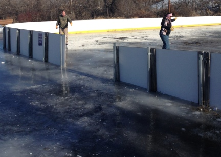 Ice Ditch to Rink  2015-01-02