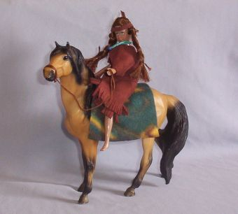 Indian Princess Bareback on Mustang Breyer