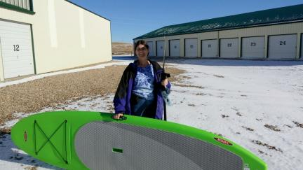 Marna with New SUP Board 2015-11-27