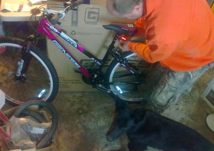 Deron Building my Birthday Bike 2014-04-02
