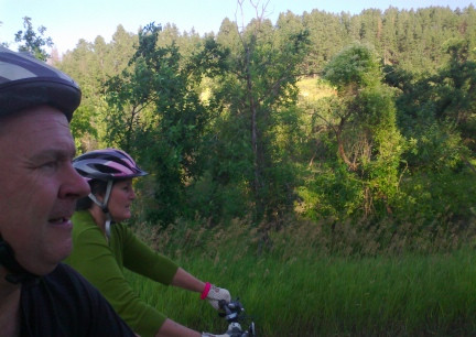 Deron & Marna Riding Spearfish Canyon 2014-08-15
