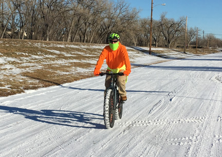 Deron rding Fat Bike 2018-01-04