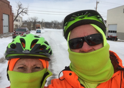 Fat Bike snowy Street Ride 2018-02-06