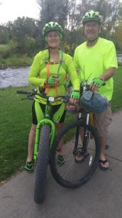 Marna and Deron Riding Rapid City 2015-10-09