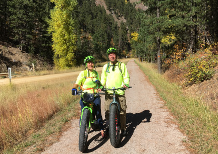 Marna & Deron Lead Area Mickelson Trail 2017-10-05