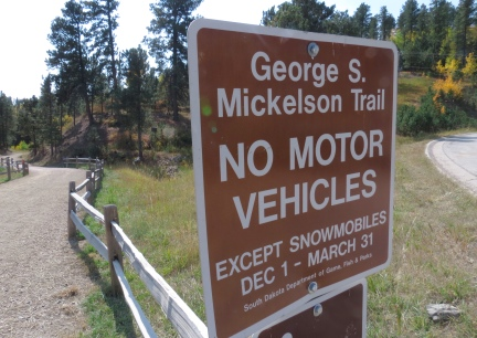 Mickelson Trail Sign