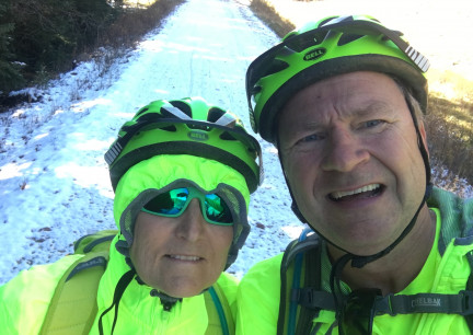 Our Mickelson Trail Snow Selfie 2017-10-10