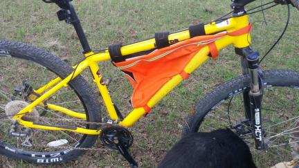 Bicycle Frame Bag Orange Prototype
