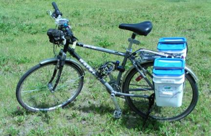 Square Bucket Panniers for Bicycle