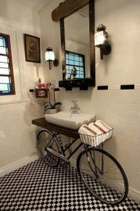 bicylce bathroom sink