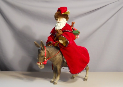Breyer's Donkey w/Father Christmas