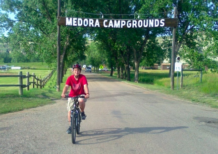 Blake Leaving Medora Campground  2014-07-02