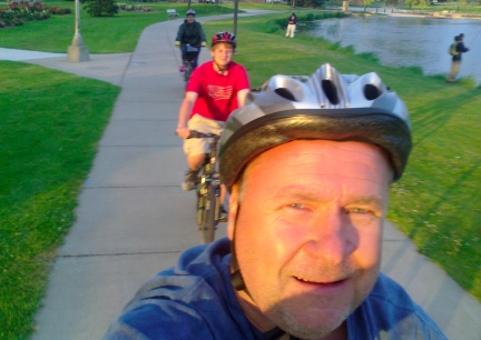 Deron Biking Selfie Blake & Marna on the Rapid City Bike Trail 2014-06-30