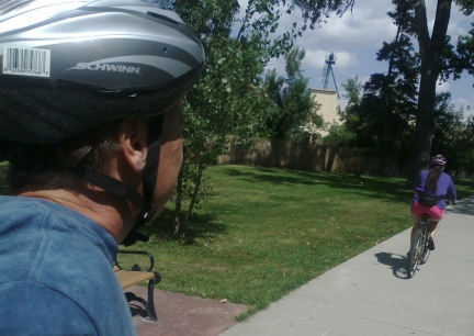Bike Riding Belle Fourche 2014-08-21