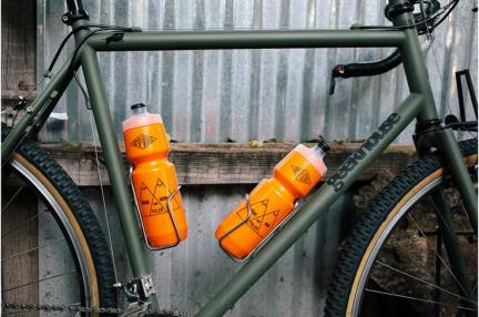 bicycle water bottles in cages